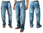 BRAND NEW MENS ETO EM340 LOOSE FIT STONEWASH JEANS > SPECIAL OFFER PRICE<