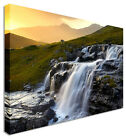 Large Picture Waterfall Morning Rush Canvas Art Cheap Print