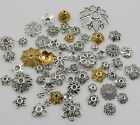 Mixed Silver/Golden Flower Bead Caps For Jewelry Making 50g(about 150pcs)