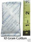 100 Silica Gel Cotton Packets 10 Gram Desiccant - Ships From USA FAST!