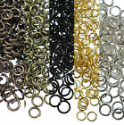 Wholesale 200-450 pcs Silver/Golden/Copper/Black Metal Split Jump Rings Jewelry