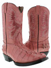 Women's cowboy boots leather crocodile alligator hot western rodeo biker