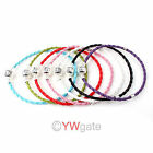 ONLY 0.99 1Pcs Leather Bracelet Fit European Charm Beads Pick Color & Size