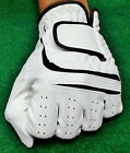 Synthetic Leather Golf Glove (White and Black) for Mens (5 Gloves Value Pack)
