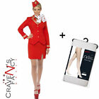 Ladies Virgin Air Hostess Trolley Dolly Fancy Dress Costume Come Fly Me 8 - 22
