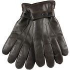 ELMA Men Nappa Leather Super Warm long fleece lining+ Thinsulate quilted Gloves