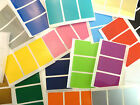 48x28mm Rectangle Plastic Vinyl Colour Code Stickers Coloured Sticky Labels