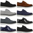 Mens New Fashion Black Faux Leather Smart Party Casual Shoes Designer Quality