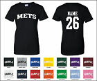 Mets Custom Personalized Name & Number Woman's T-shirt