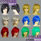 16inch Heat Resistant ALL COLOR Hand Spikeable Shaggy Cut Short Cosplay Wigs