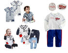Baby Boy Sporty Baseball Collection, Baby Boy Bodysuit & Set Outfit 3 6 12 18 24