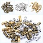 200Pcs Tibetan silver Column Shaped Decorative Pattern Spacer Bead Finding 8*3mm
