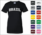 Country of Brazil College Letter Woman's T-shirt