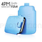 LEATHER PULL TAB SKIN CASE COVER POUCH FOR VARIOUS ZTE MOBILES
