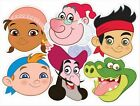 Jake & The Neverland Pirates Variety Six Pack Fun Disney CARD Party Face Masks