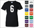 Number 6 Six Sports Number Woman's Jersey T-shirt Front Print