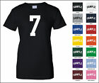 Number 7 Seven Sports Number Woman's Jersey T-shirt Front Print