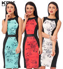 New KDK LONDON Womens Flower Print  Bodycon Party Clubwear Dress