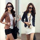 Hot Women Blazer Lady OL One Button Suit Coat Long Sleeve Jacket Outerwear Top