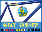 '2 DISNEY STYLE VINYL NAME STICKERS' for kids bikes/ scooters / go cart ect