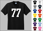 Number 77 Seventy Seven Sports Number Youth Jersey T-shirt Front Print