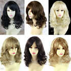 Stunning Heat Resistant Curly Medium Wig Black Brown Blonde Lady Wigs WIWIGS UK