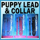 PUPPY SMALL DOG LEAD & COLLAR SET LEASH Polka Dots PINK BLUE BLACK FAUX LEATHER