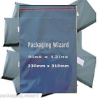 Strong Poly Mailing / Postal Bags 9ins x 12ins (230 x 350mm) Grey ~ Select Qty
