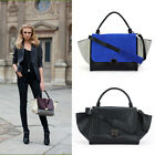 Designer Inspired Women Trapeze 2 SHAPE BAG Faux Leather/Suede Handbag Purse