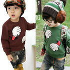 New Children's Boys cartoon Fashion  long-sleeved T-shirt Sweater A0058
