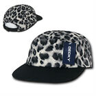 New 5 Panel ANIPAT Racing Hat- Decky 986- Leopard Print Black or Red Caps