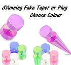 New Stunning 1x Pearl Fake Taper or Plug Pearlescent Cheater Faux Stretcher (N9)