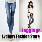Fashion Sexy Women Skinny Slim Jeans Look Leggings Jeggings Tights Stretch Pants