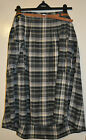 NEXT ladies girls blue check 100% cotton skirt with belt size 12 size 14 RRP £35