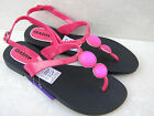 WOMENS GIRLS JELLY FLAT WATER BEACH SUMMER BUCKLE STRAP SANDALS SHOES SIZE 3 - 6