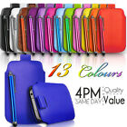 LEATHER PULL TAB CASE COVER POUCH & STYLUS FITS VARIOUS SONY ERICSSON  MOBILES