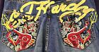 NEW MEN AUTHENTIC ED HARDY JEANS SIZE 36,  38,  40 & 44