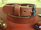 "150_1 1/2""_HEAVY DUTY LEATHER WORK_CCW GUN HOLSTER BELT_AMISH HANDMADE_1.5""Belts - 2993"