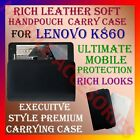 RICH LEATHER SOFT CARRY CASE LENOVO K860 MOBILE HANDPOUCH COVER PROTECTION POUCH