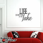 Life is Better at the Lake Vinyl Wall Decal Quote home design decor sticker L094