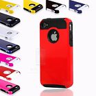 Colorful Rugged Rubber Matte Fitted Hard Case Cover For Apple iPhone 4 4G 4S
