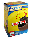 30 GALLON LARGE DRAWSTRING TRASH BAGS PlastiMade HOME OFFICE OUTDOOR 1 MIL