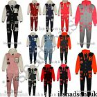 NEW KIDS GIRLS BOYS BASEBALL TRACKSUIT HOODED JACKET BOTTOM SET SIZE 7-13 YEARS