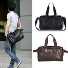Men's Faux Leather Laptop Carry Case Shoulder Bag Luggage Large Capacity Handbag