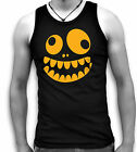 Funny Crazy Monster Face Mens Sleeveless Muscle T Tank Top Vest Sm - 2XL