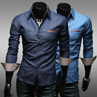 New Fashion Mens Long Sleeve Luxury Casual Slim Fit Stylish Dress Shirts MCL117