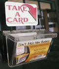 Outside Business Card Holder for Landscaping Trucks Car With TAKE A CARD Sticker