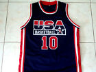 REGGIE MILLER #10 TEAM USA BASKETBALL JERSEY NEW NAVY BLUE - ANY SIZE