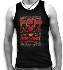 Thunder Road Hard-Core Hell Pure Evil Oil Mens Sleeveless Muscle T Tank Top Vest