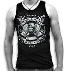 Biker Eagle Wings Ride the Best USA Mens Sleeveless Muscle T Tank Top Vest